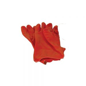 1 x Red PVC Gloves