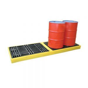 4 x 205 L drums in-line Workfloor