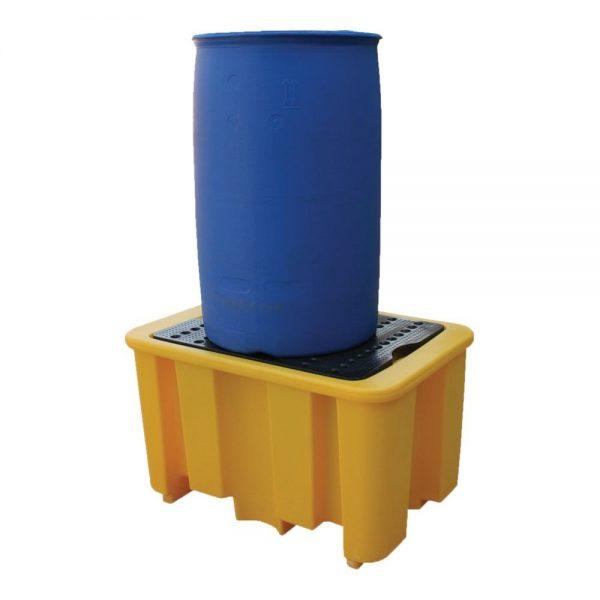 60 x 100 x 68cm Spillpallet for 1 x 205L drum - Yellow