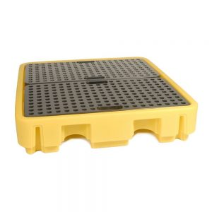 Spillpallet for 4 x 205L drum - Yellow