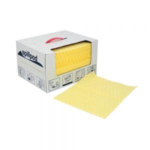 1 x 75 Chemical absorbent pads - Disp. box