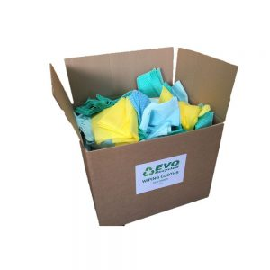1 x 5kg Non-Woven Wiper seconds (mixed colour) 5kg box