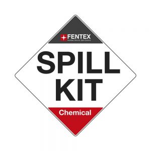 1 x Chemical Spill Kit label 22cm x 22cm