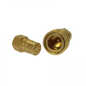 1x IBB12-M-08GM-VISO B Brass Coupling ISO 7241-B 180 Bar MWP